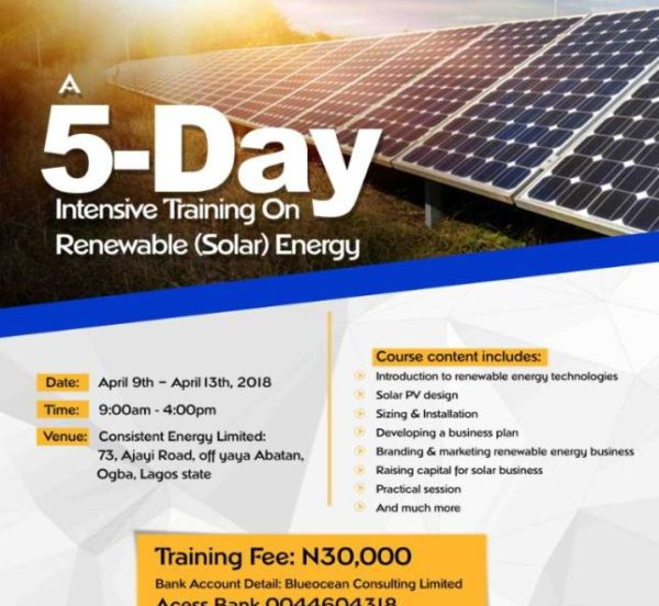SOLAR TRAINING IN LAGOS